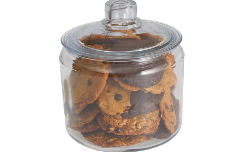 Summertime cookies in a Jar