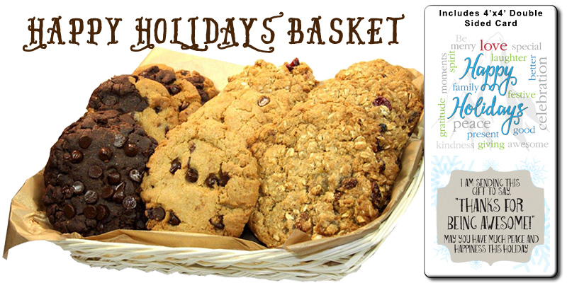 Happy Holidays Cookie Gift Basket