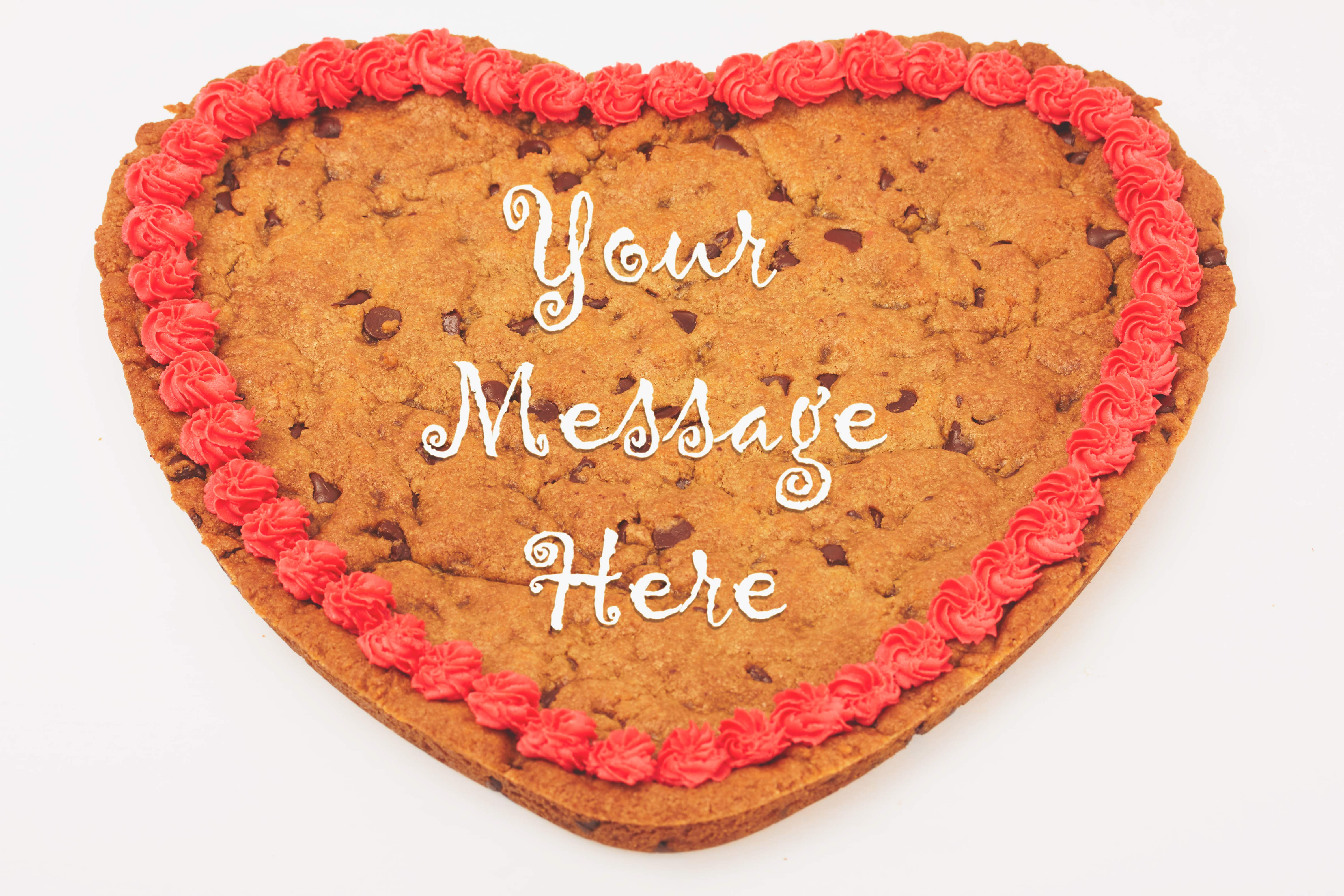 Our giant cookie grams are made from the heart!