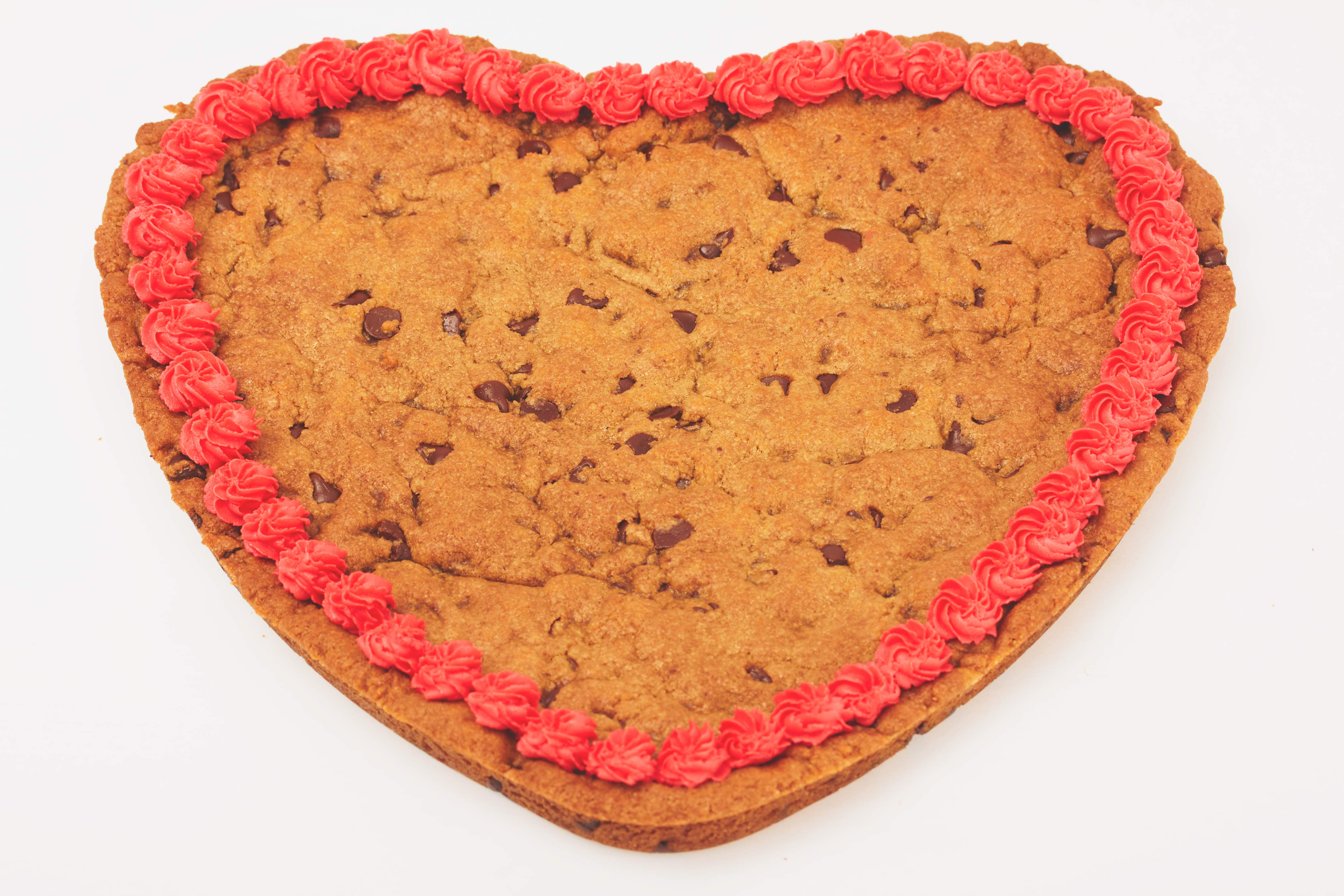 Giant Vegan Cookie Gram Heart