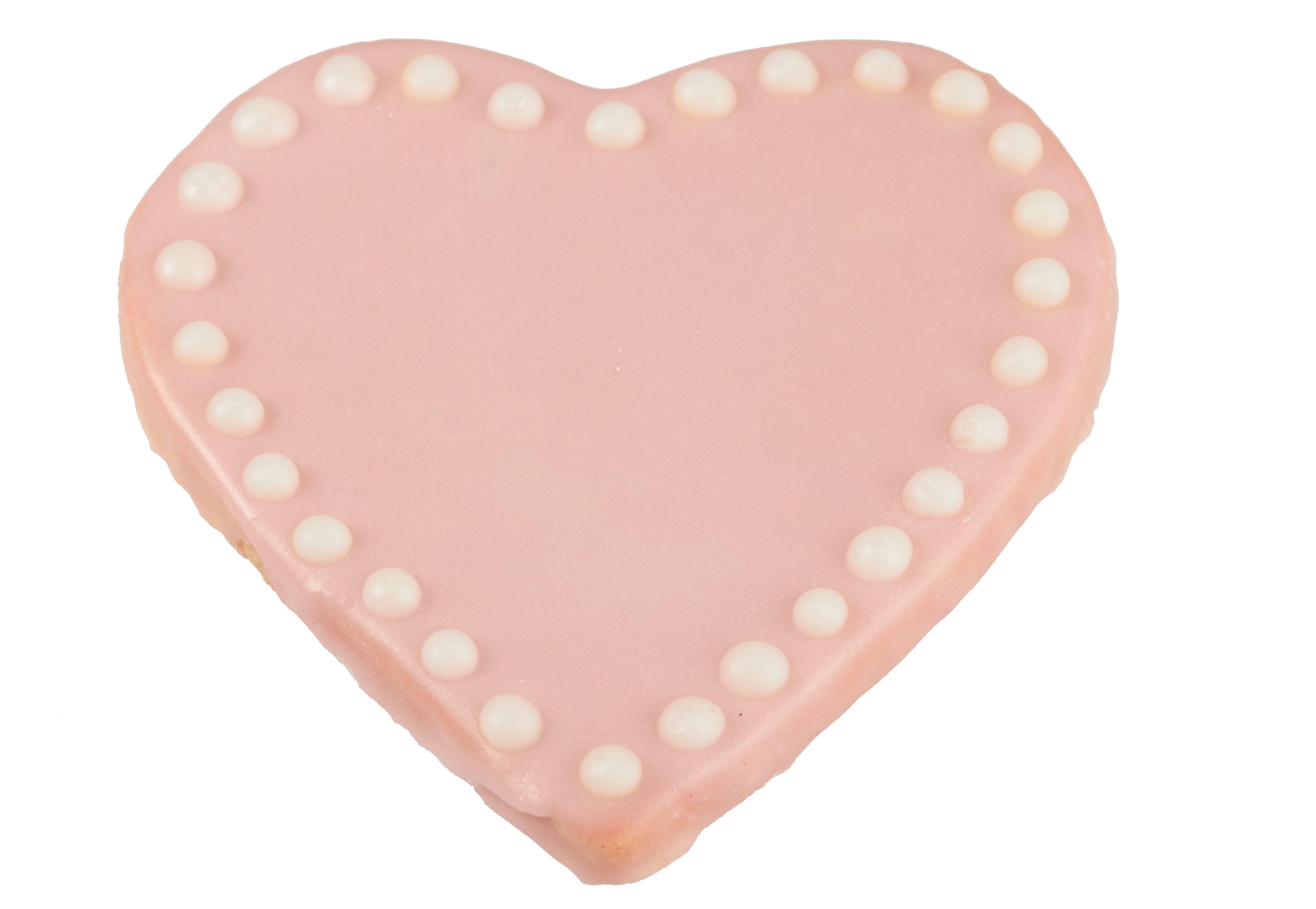 Pink Heart Valentine Vegan Sugar Cookie