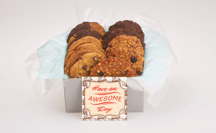 Have an awesome day vegan cookie giftbox