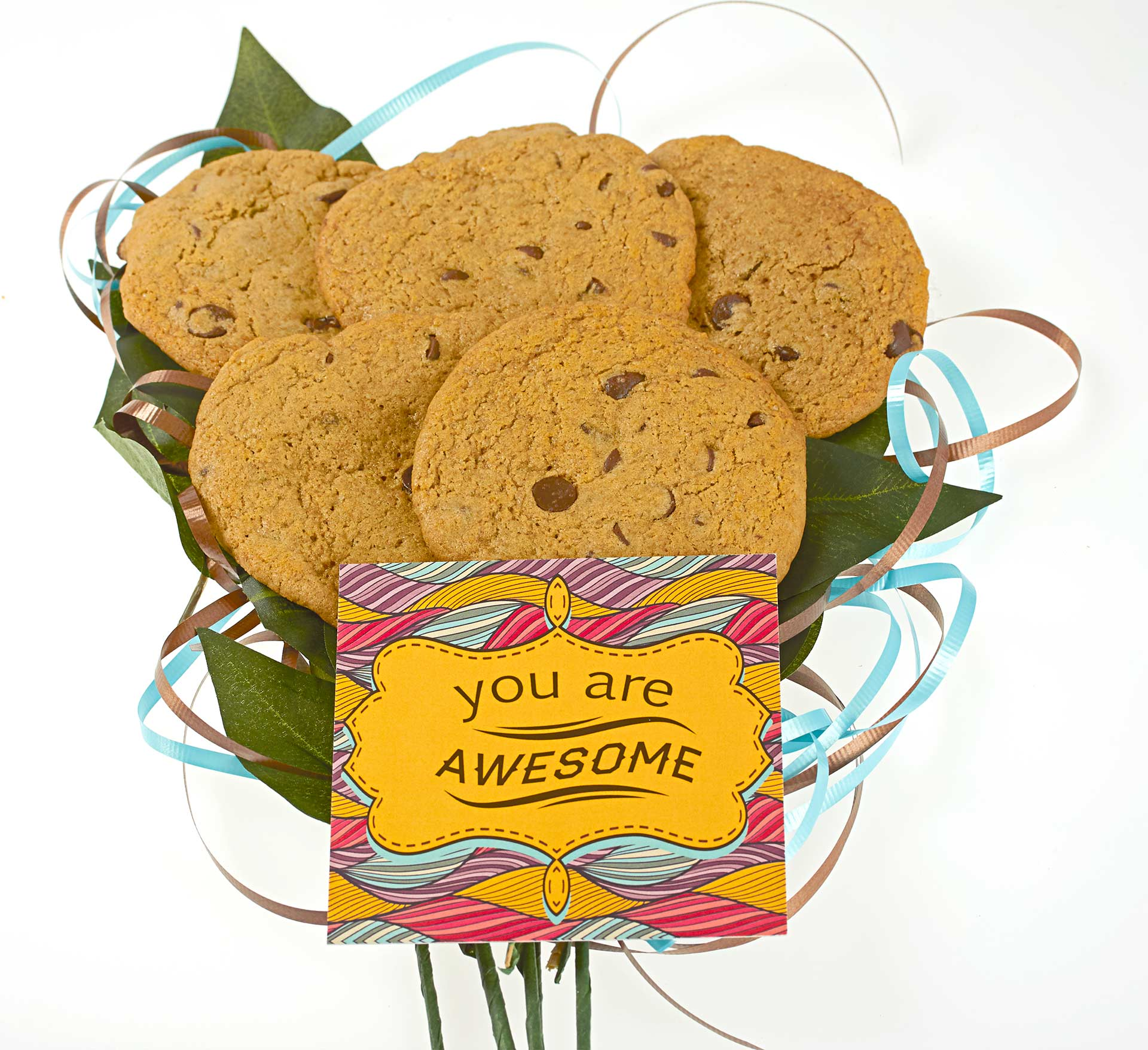 You are awesome vegan gluten-free cookie bouquet