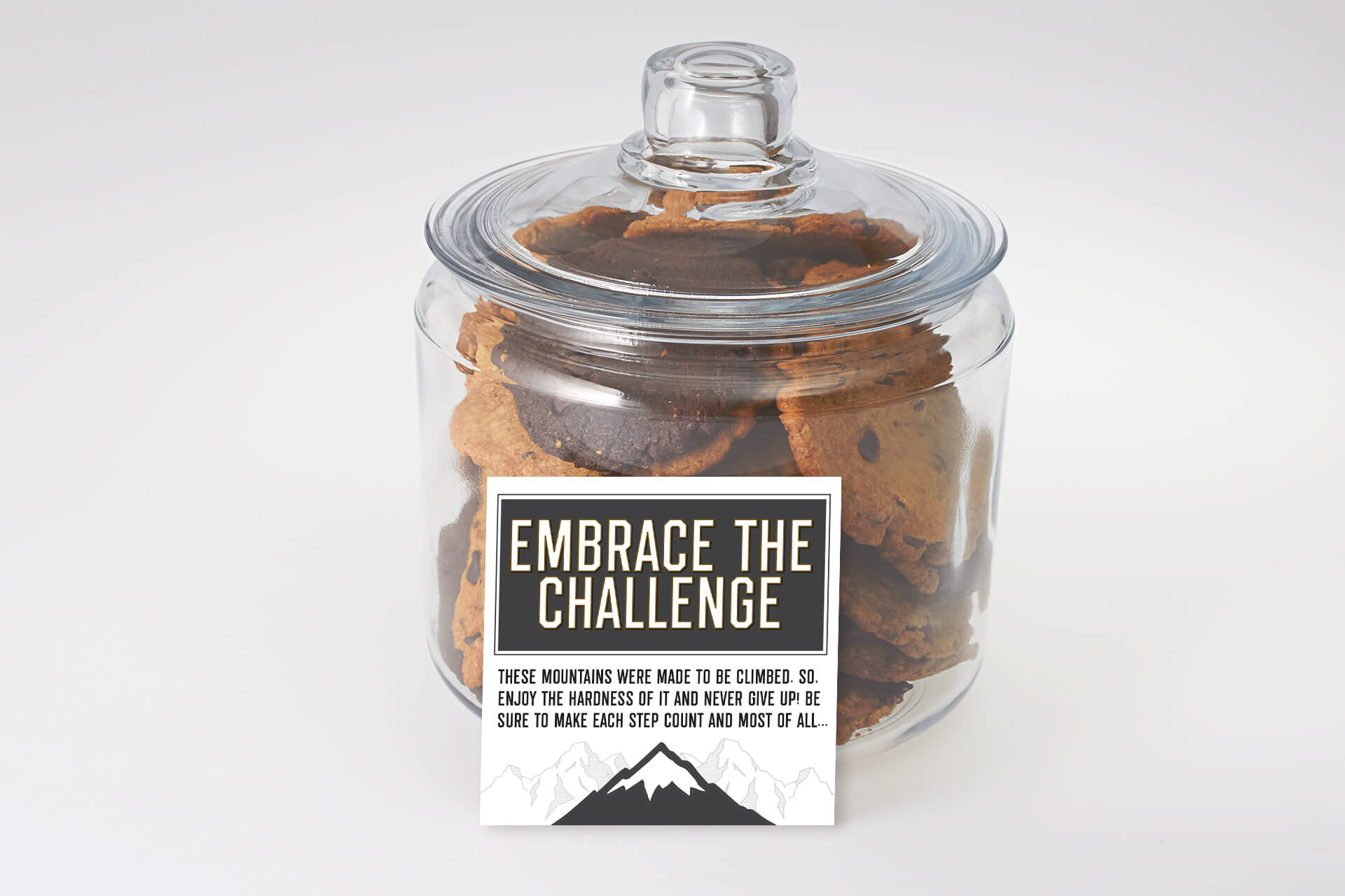 Embrace the challenge cookie Jar that inspires greatness