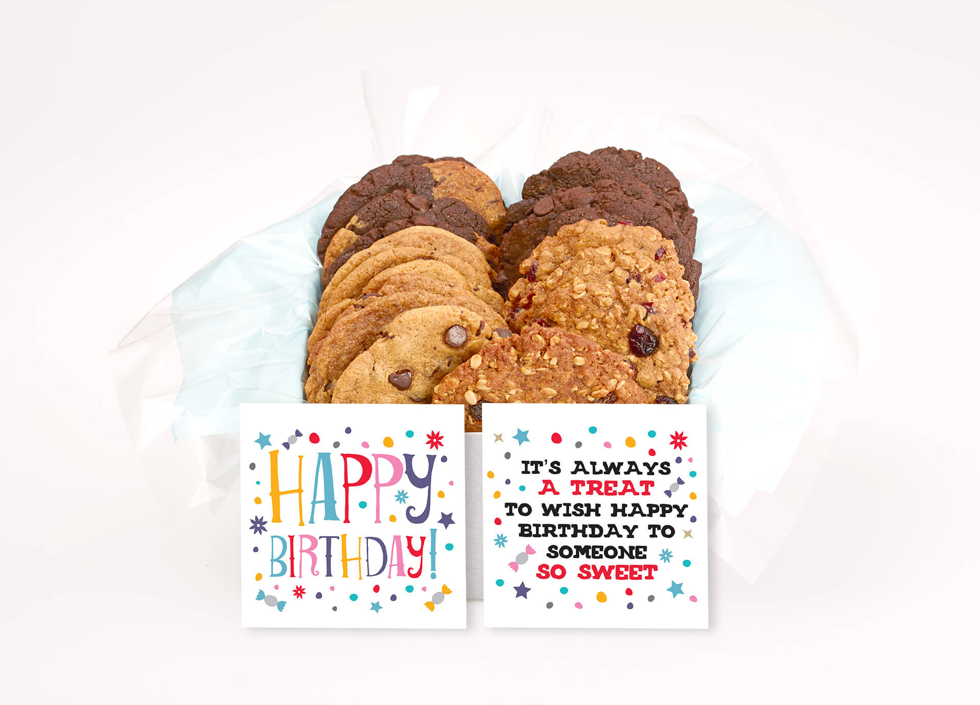Happy Birthday Silver Cookie Gift Box