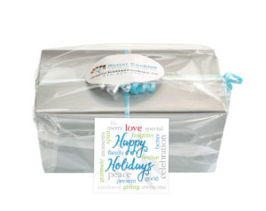 Happy Holidays Small Cookie Gift Box