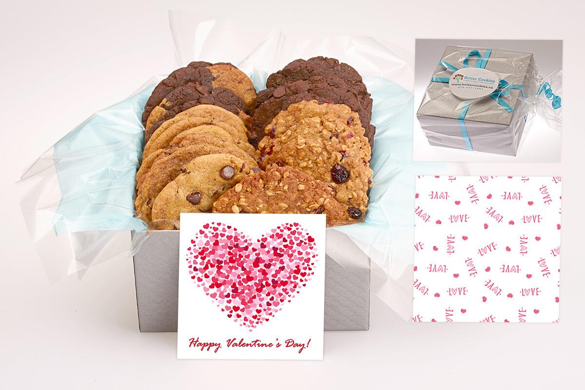 Happy Valentine's Day Cookie Gift Box
