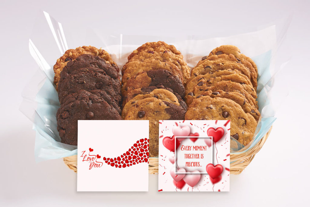 I Love You Cookie Gift Basket-