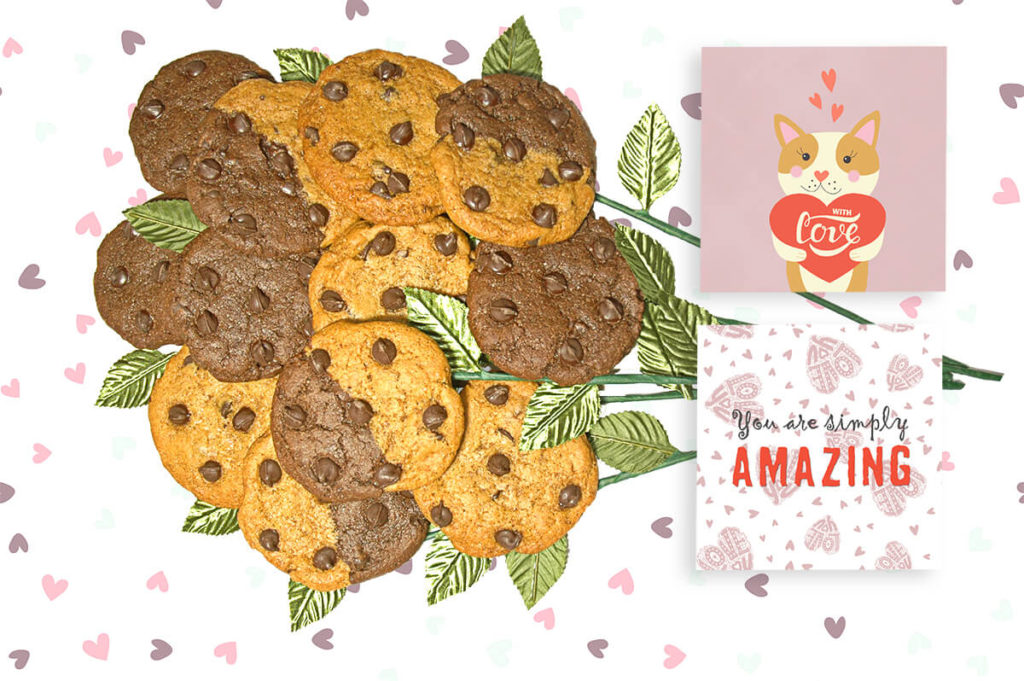 With love cookie bouquet