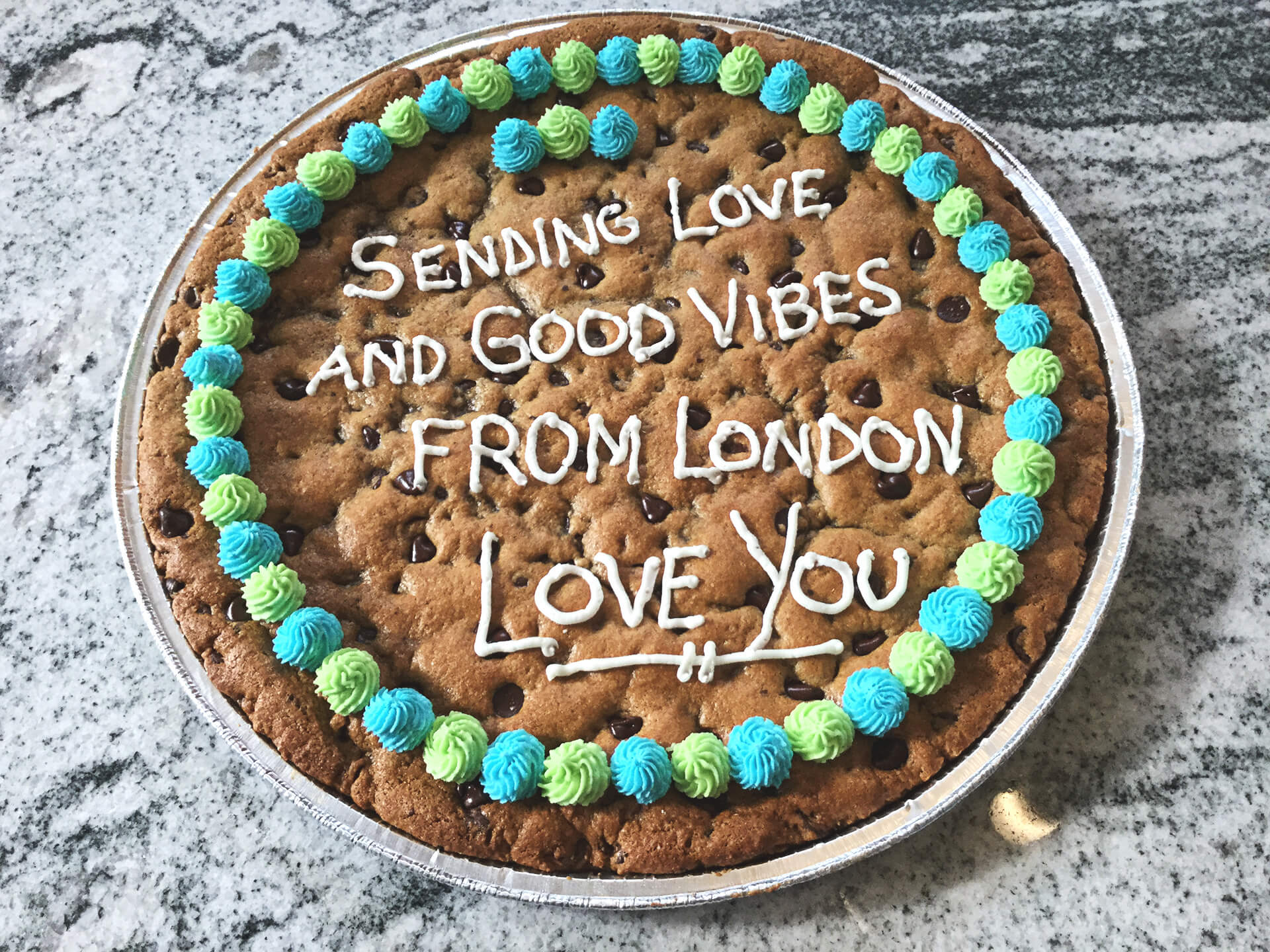 Sending good vibes with a cookiegram