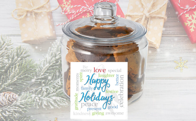 Happy Holidays Gift Jar