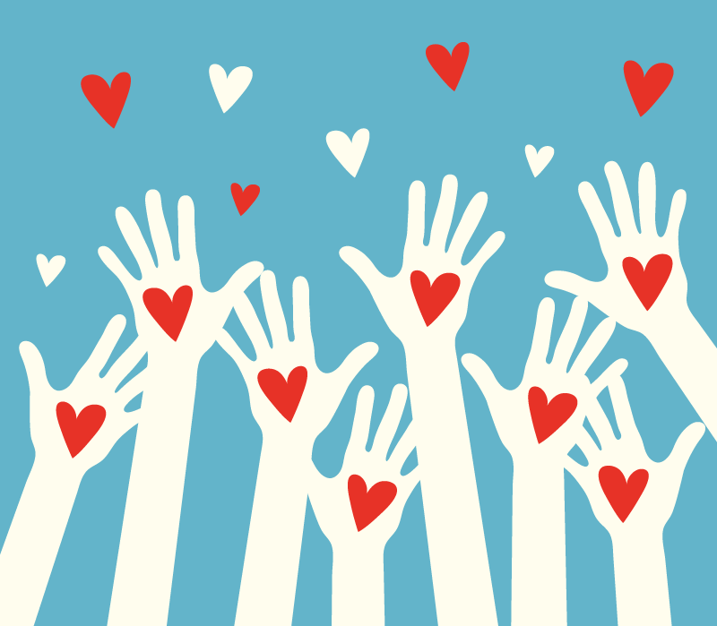 Hands up and Hearts Together