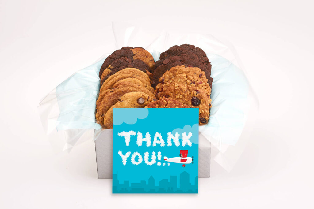 Thank you Plane in Sky Cookie Gift Box