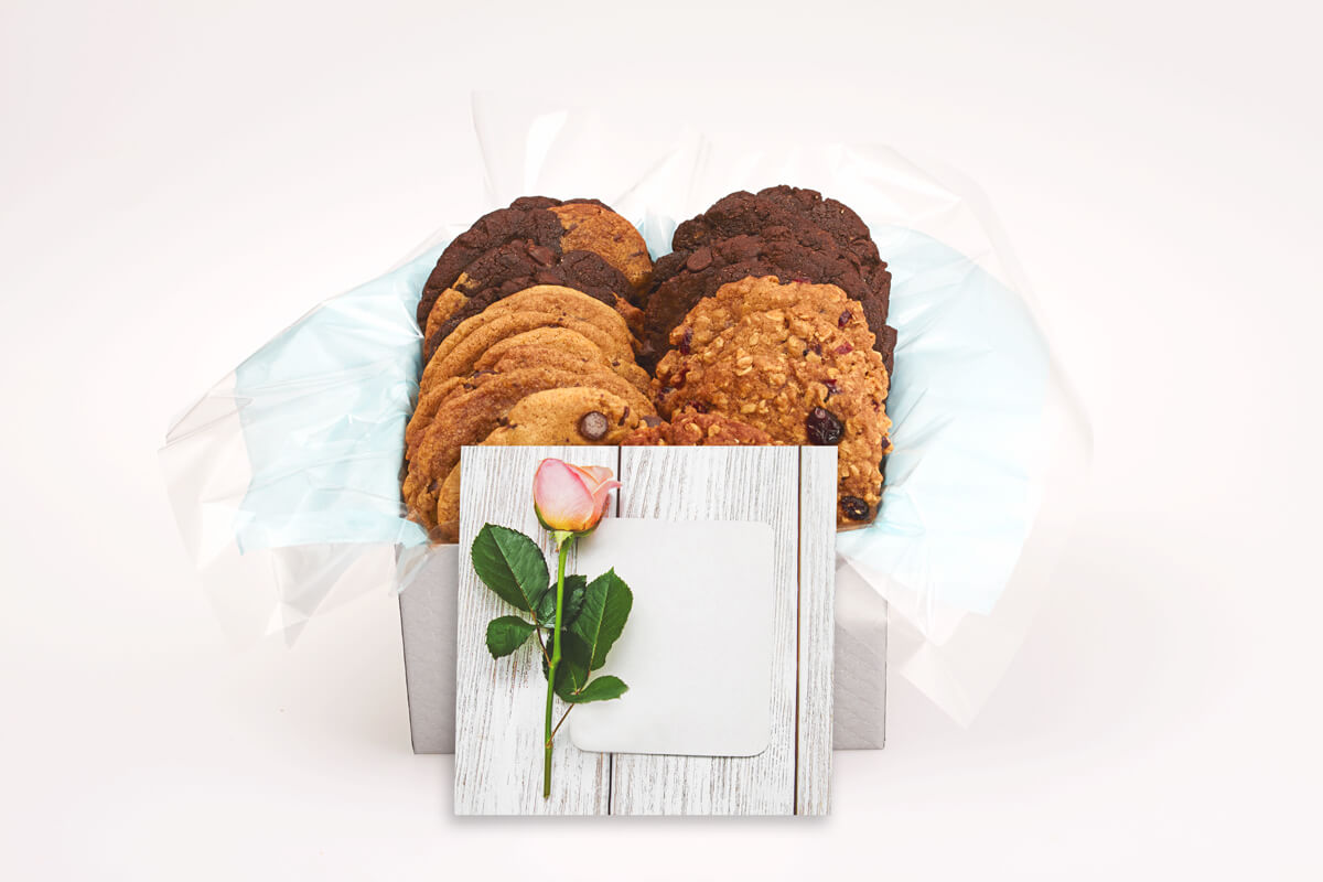 One rose wood card cookie box