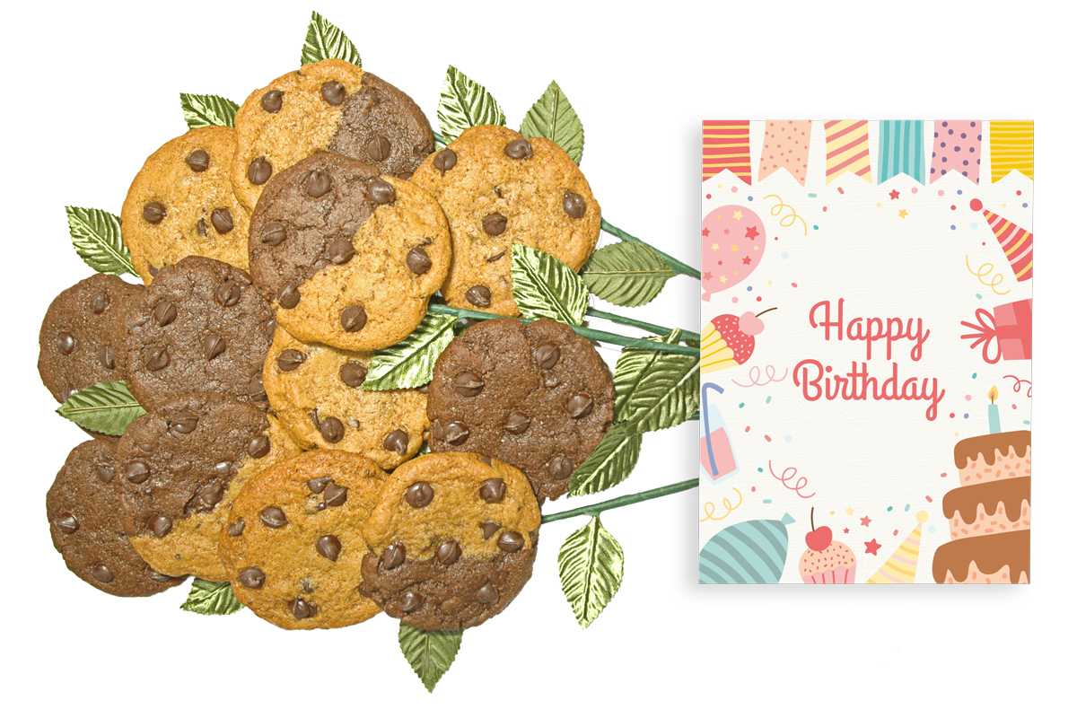 Cakes Dots and Stars Happy Birthday Cookie Bouquet