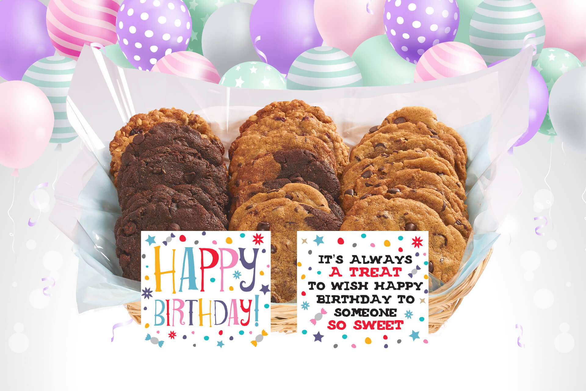 Sweet Birthday Gift Basket Gourmet Cookies