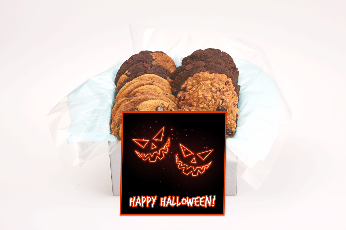 happy halloween jack o'lanterns cookie gift box