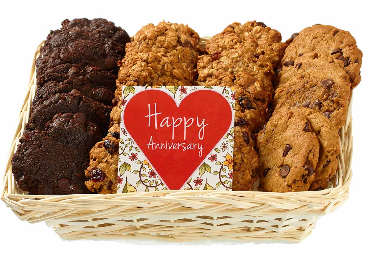 Happy Anniversary Vegan Cookie Gift Basket