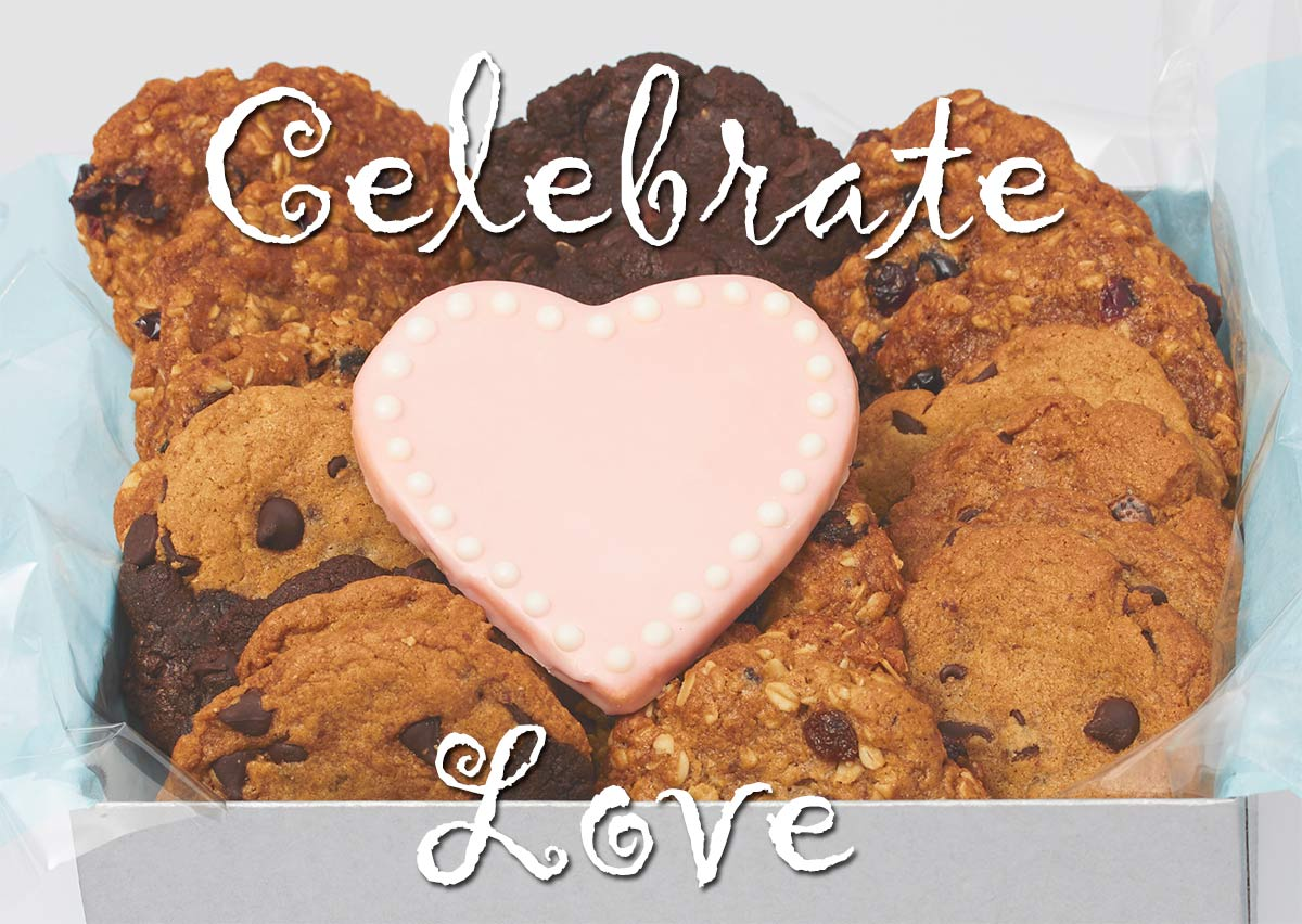 Celebrate Love Cookie Basket - Vegan Valentine's Day Gifts