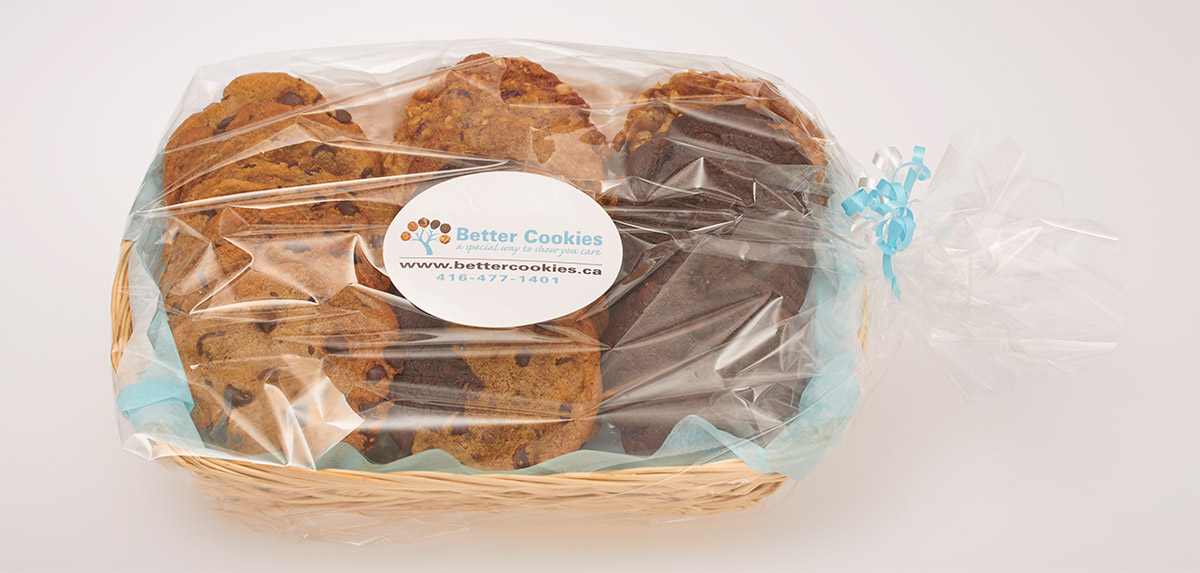 Gourmet Cookies in a Gift Basket with local Cookie Delivery