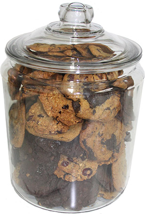 Vegan Cookies in a Gift Jar