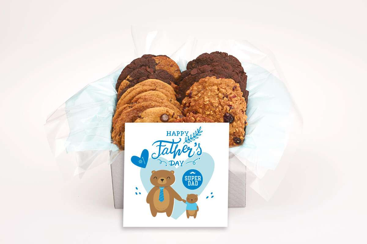 2 Bears Father's Day Cookie Gift Box
