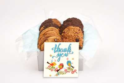 3 Birds Singing Thank You Cookie Box