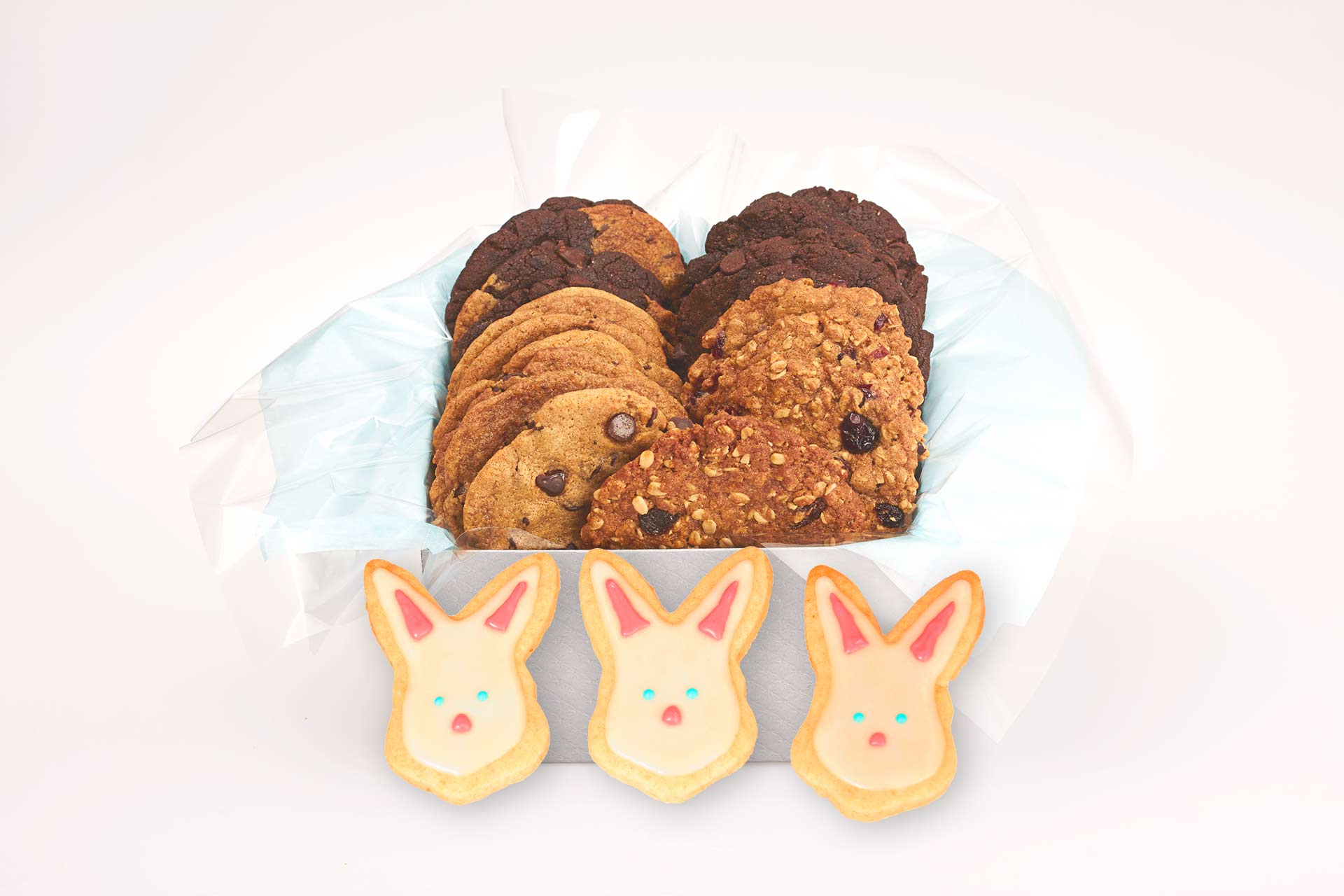 Easter bunny cookie gifts better cookies canada gift boxes with easter bunny sugar cookies for delivery in canada negle Image collections