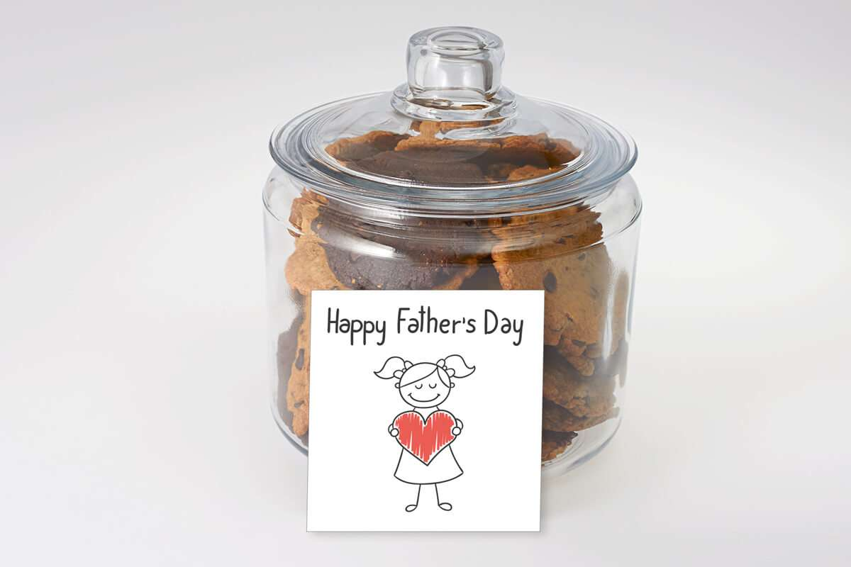 A Big Heart Father's Day Cookie Jar