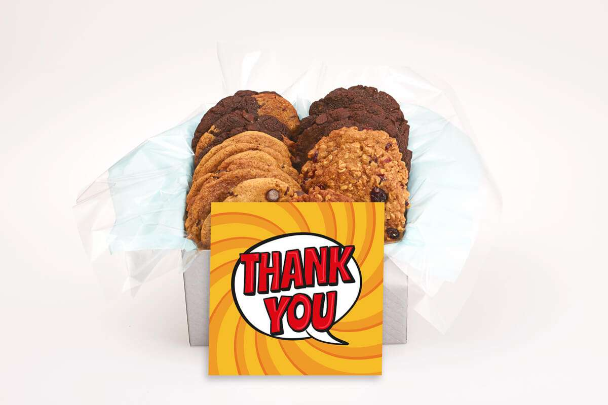 A Big Red Thank You Gift Box
