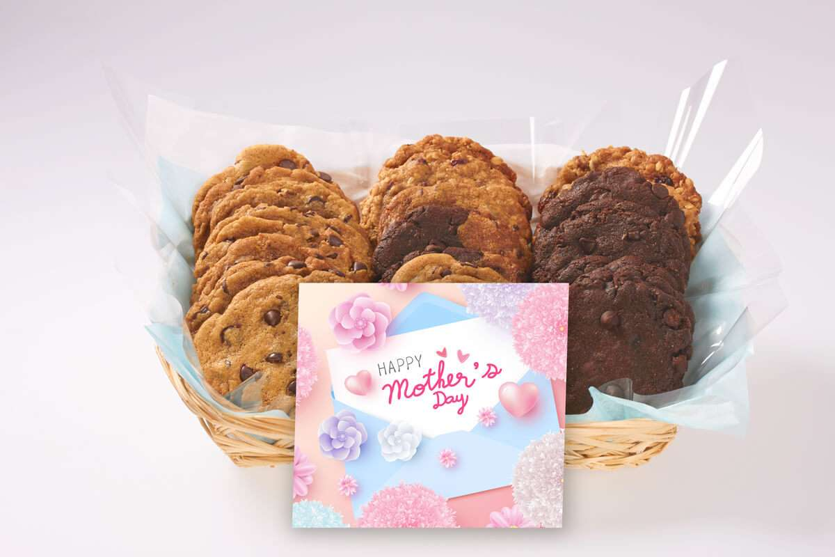 A Blue and Pink Mother's Day Gift Basket