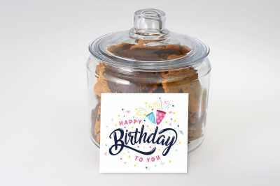 A Confetti Birthday Cookie Jar