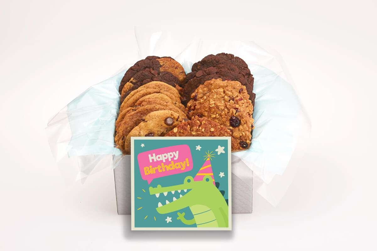 Alligator Happy Birthday Cookie Box