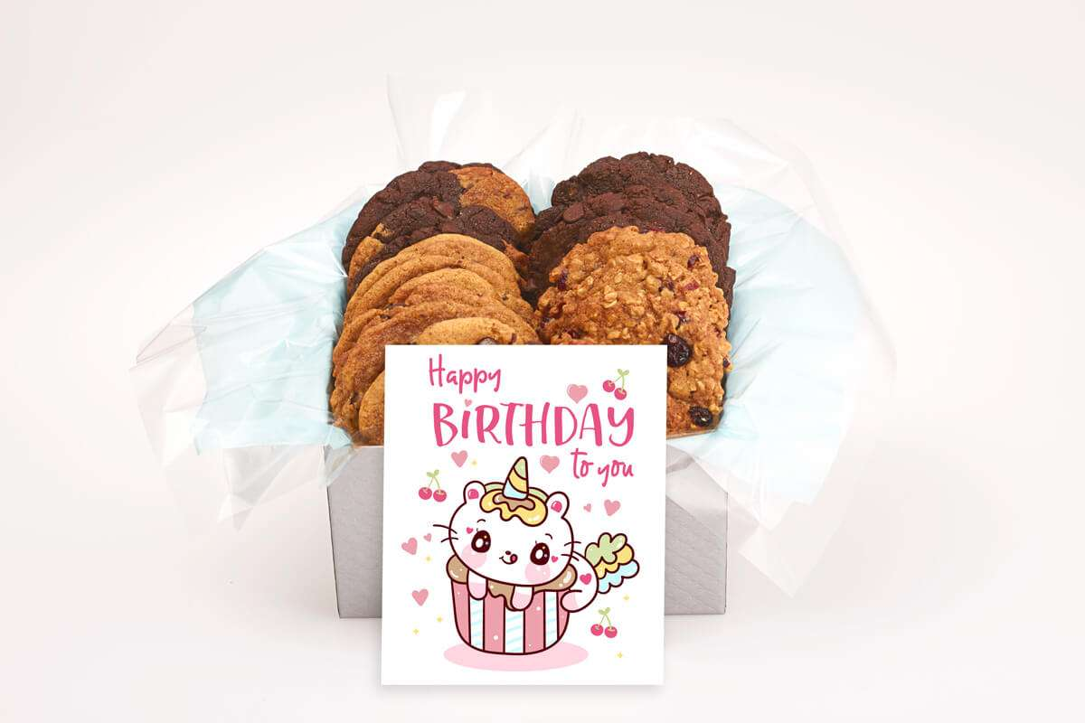A Sweet Cat Birthday Cookie Gift Box