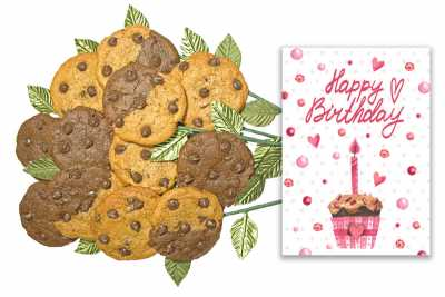 A Very Heartfelt Birthday Cookie Flower Bouquet