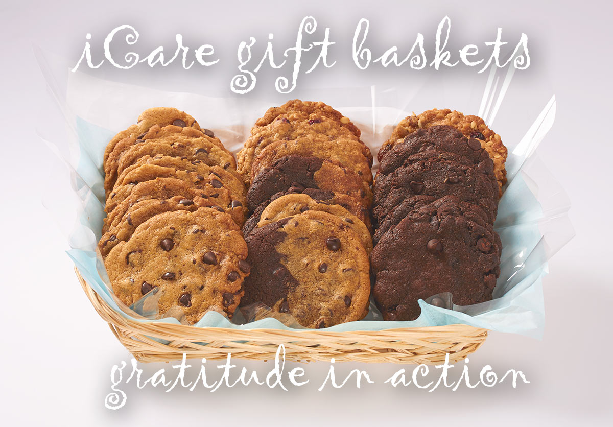 iCare Cookie Gift Baskets Delivery - Send a Gourmet Cookie Basket that Embody Goodness