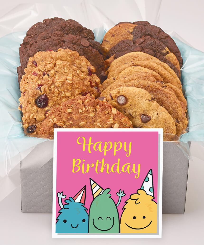 Cute Cookie Monsters Birthday Gift Box
