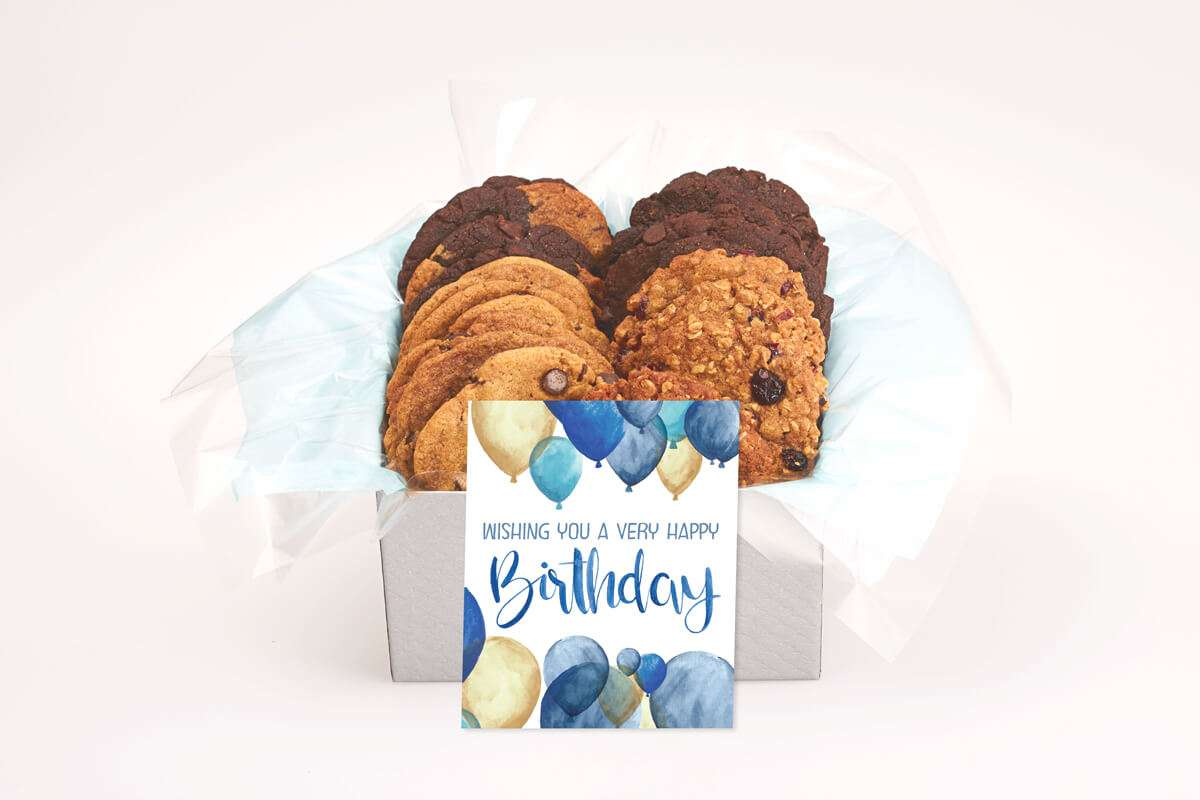 Birthday Balloon Gourmet Cookie Box