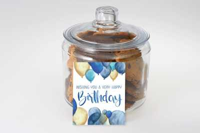 Birthday Balloon Gourmet Cookie Jar