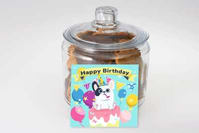 Birthday Dog Cookie Gift Jar