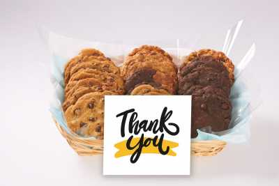 Black and Yellow Thank You Gift Basket