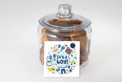 Blue Baby Boy Cookie Jar