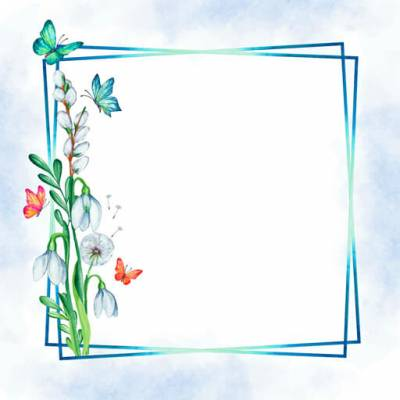 Select the Butterflies and Flowers Frame