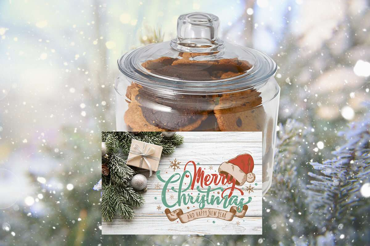 Christmas Wreath Cookie Jar
