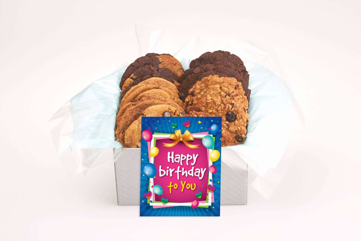 Colourful Cookie Birthday Gift Box