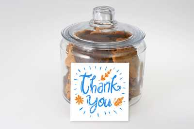 Colourful Thank You Gift Jar
