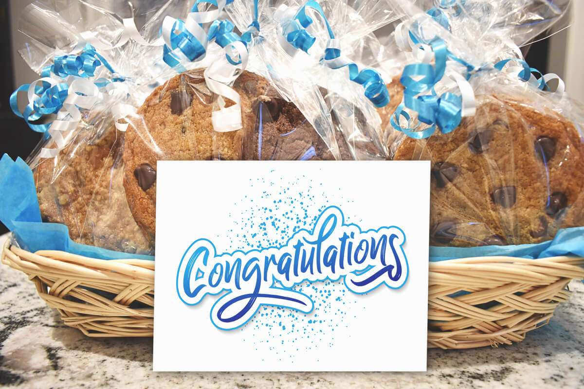 Congratulations Individually Wrapped Cookie Basket