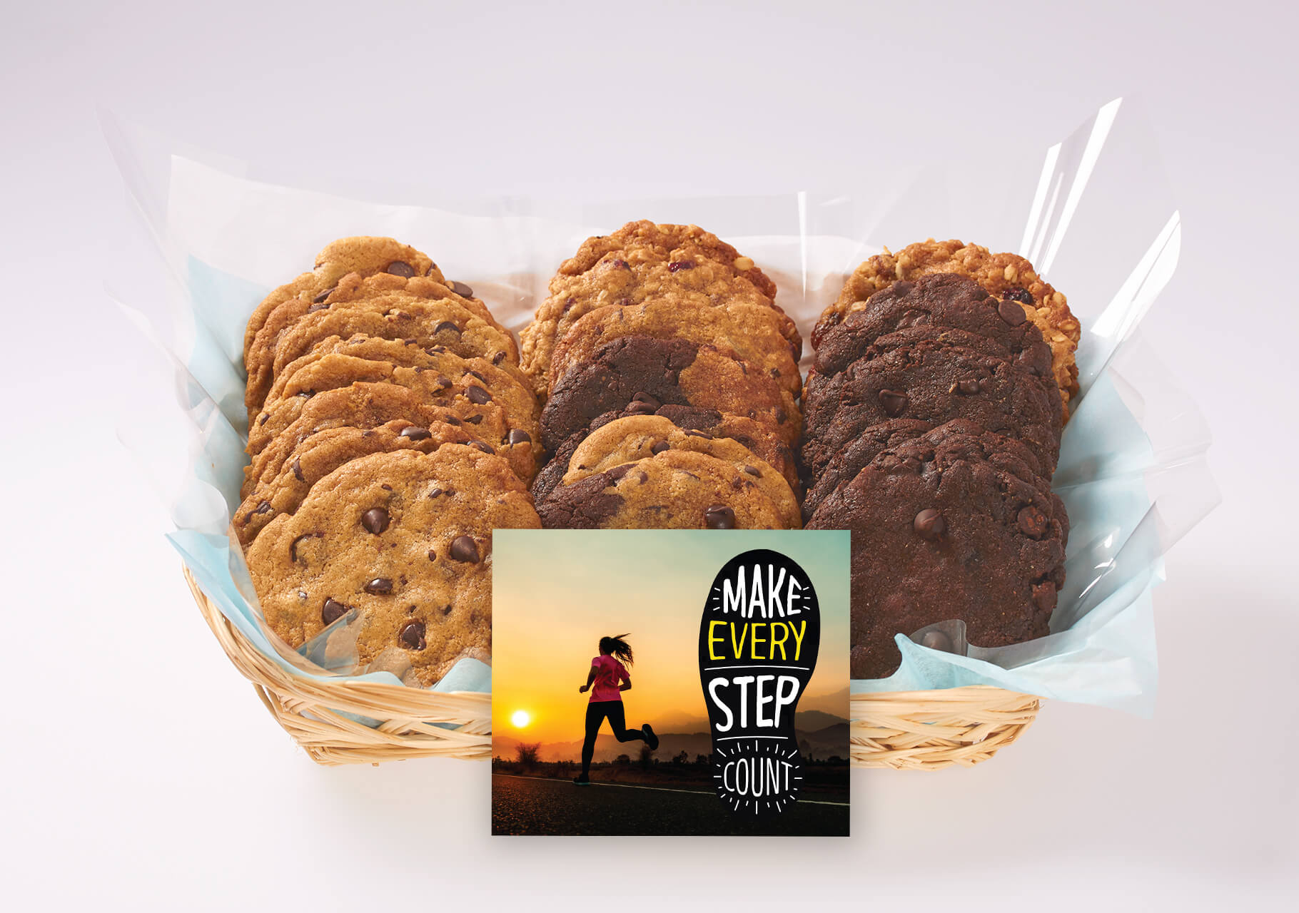 Make Every Step Count Cookie Gift Basket to Inspire