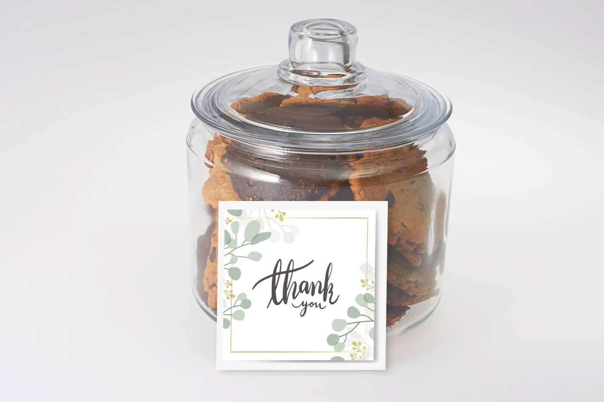 Thank You Cookies in a Jar