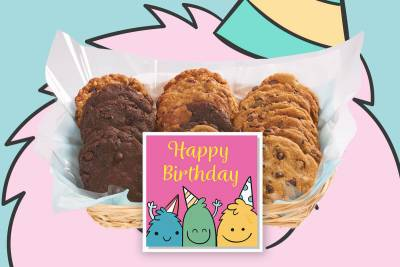 Cute Cookie Monster's Birthday Gift Basket